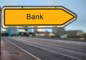 Strassenschild 14 - Bank