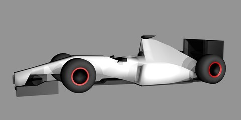 Racing render car