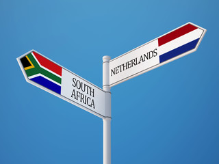 Serbia Netherlands  Sign Flags Concept