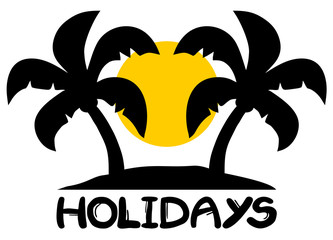 Holidays beach symbol