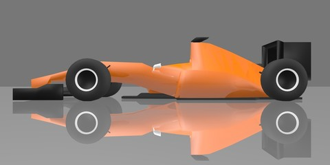 Orange racing car
