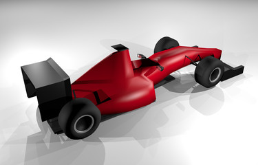 Render red racing car