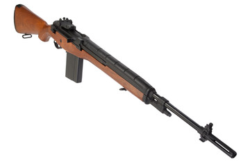 M14 rifle isolated