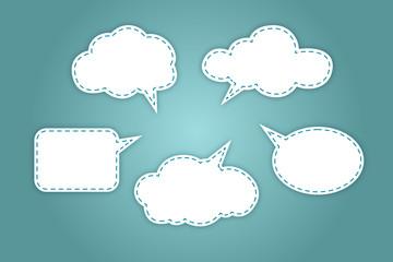 White bubbles for speech