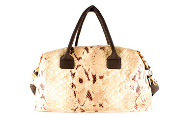 Snake style leather purse