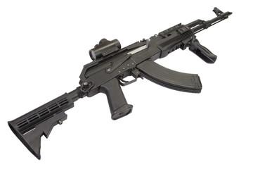 Kalashnikov AK47 with modern accessories
