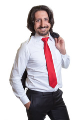 Relaxed turkish businessman with suit