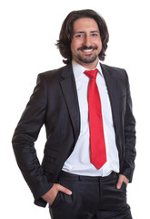 Standing turkish businessman with suit