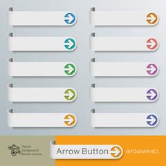 Infographic Vector Arrow Button