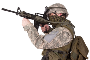 US ARMY soldier with m4 carbine