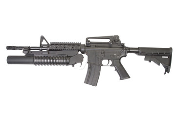 M4A1 carbine equipped with an M203 grenade launcher