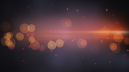 light stripe and circle bokeh techno loopable background