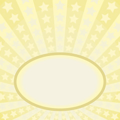 yellow background with frame and stars