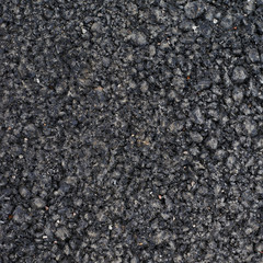 Black asphalt fragment