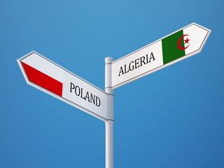Poland Algeria  Sign Flags Concept