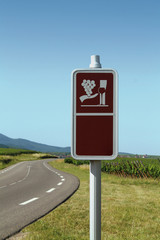 route des vins alsace détourage panneau kazy