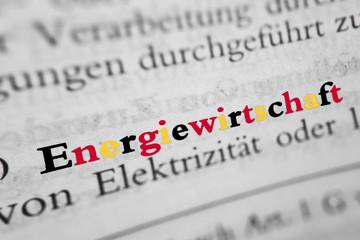 Energiewirtschaft - schwarz-rot-gold Farben