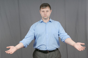 man showing his hands