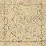 Fototapety Abstract Retro Topography map Background