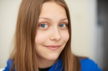 Teen girl smiling