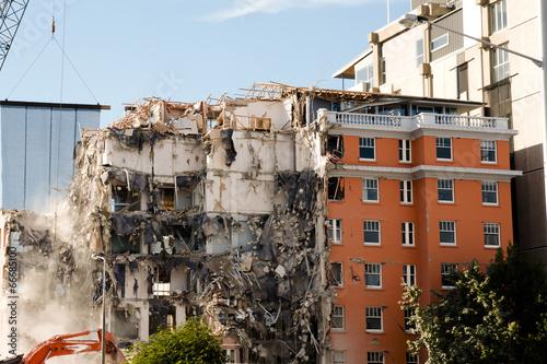 Leinwandbild Motiv Christchurch Earthquake 2011