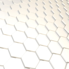 Abstract background hexagon plate