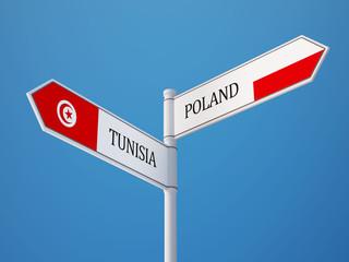 Tunisia Poland  Sign Flags Concept