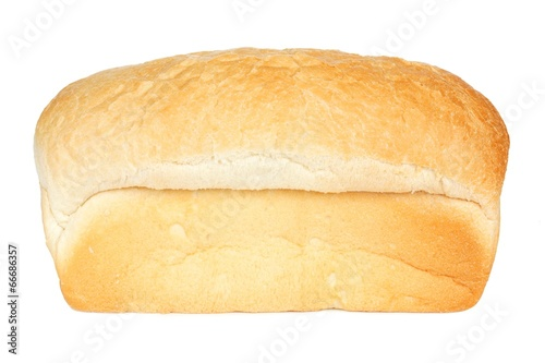 Plexiglas Brood Loaf of white bread isolated on a white background