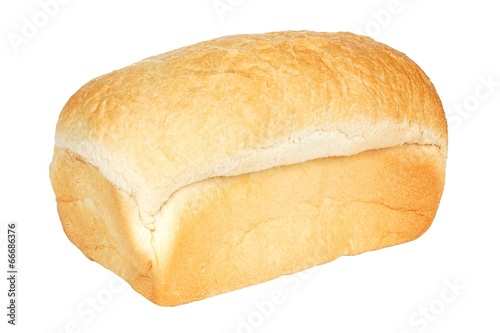Fotobehang Brood Loaf of white bread isolated on a white background