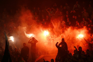 Soccer match between Partizan and Red Star