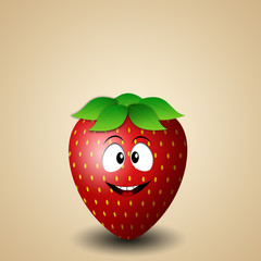 Funny strawberry