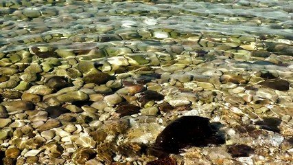 Stones in the Sea Water