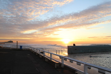 ocean baths at dawn - newcastle
