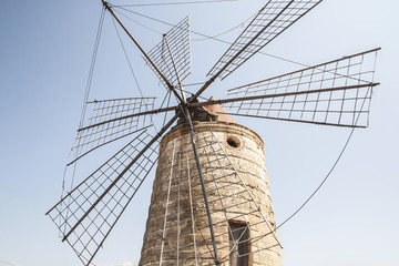 old sicilian windmill