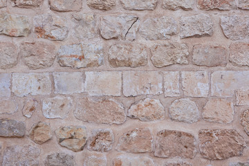 Historic Old Stone Cream Orange Wall