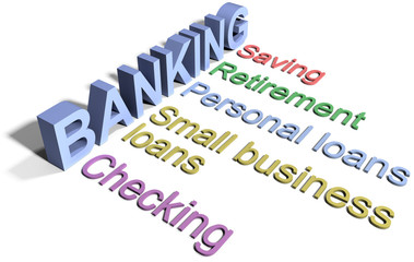 Bank saving financial business services