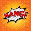 Bang! Comic Speech Bubble, Cartoon.