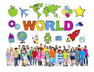 Group of Diverse World Children