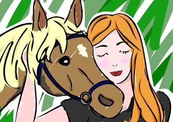 女性と愛馬