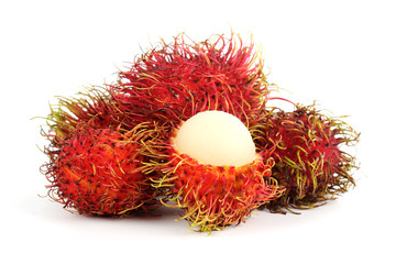 Tropical fruit rambutan