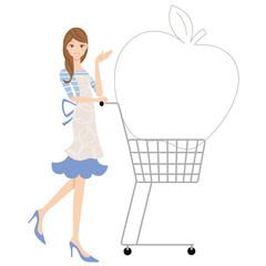 ショッピングカートと主婦