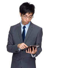 Businessman look at tablet