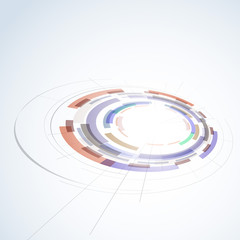 Abstract circle stage design element