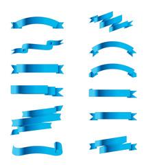 Collection Blue ribbbon vector stock