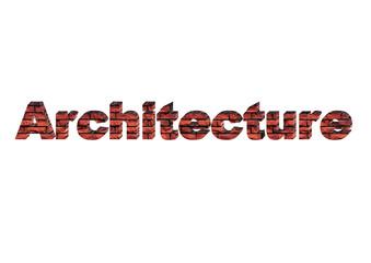 Letreiro Arquitetura 3D