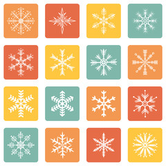 Vector Set of Snowflakes Icons