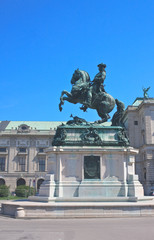 Equestrian statue of Prince Eugene of Savoy at the castle Hofbur