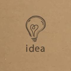 Lightbulb paper illustration. Creative idea symbol concept. Vect