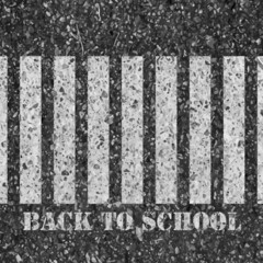 Back to school. Road safety concept.