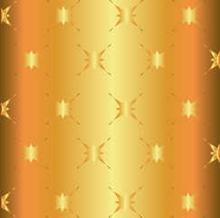 Golden star light metal surface background plate